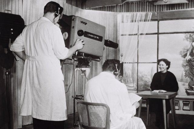 Televizní studio Ostrava v roce 1956