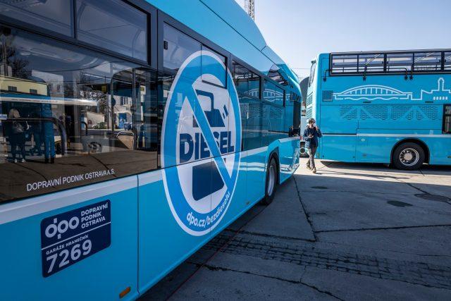 Dopravní podnik Ostrava ukončil provoz dieselových autobusů   foto: Město Ostrava