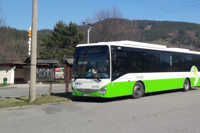 Linkový autobus ČSAD Frýdek-Místek na Morávce