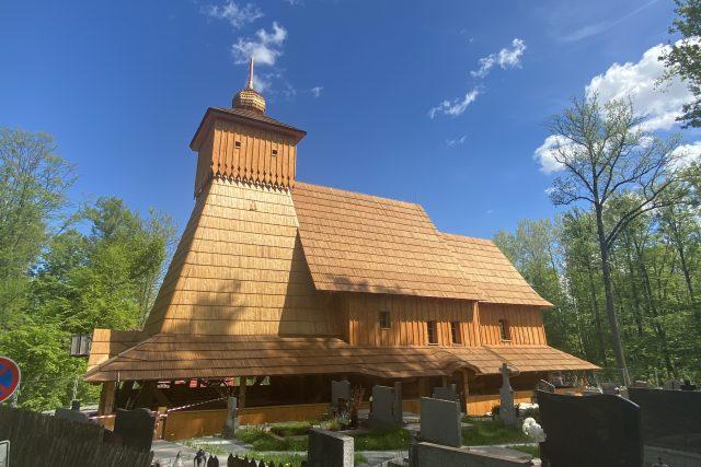 Replika dřevěného kostela v Třinci-Gutech