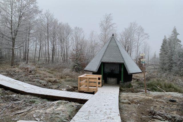 Nově opravený pramen Odry u Kozlova