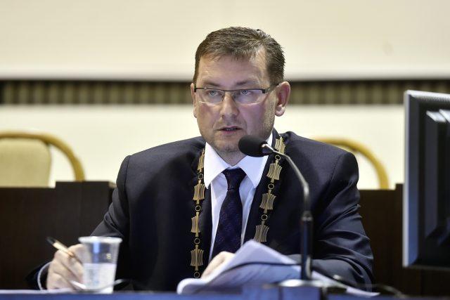 Primátor Karviné Jaroslav Ožana.