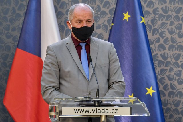 Ministr zdravotnictví Roman Prymula na tiskové konferenci 21. října