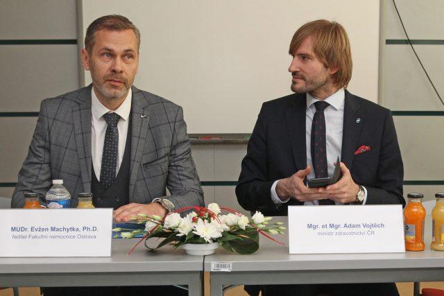 Evžen Machytka a ministr zdravotnictví Adam Vojtěch  (za ANO) | foto: Alexandr Satinský,  MAFRA/Profimedia
