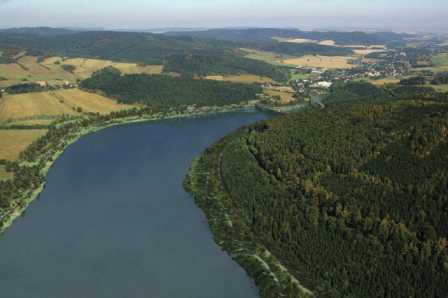 Vizualizace vodního díla Nové Heřminovy
