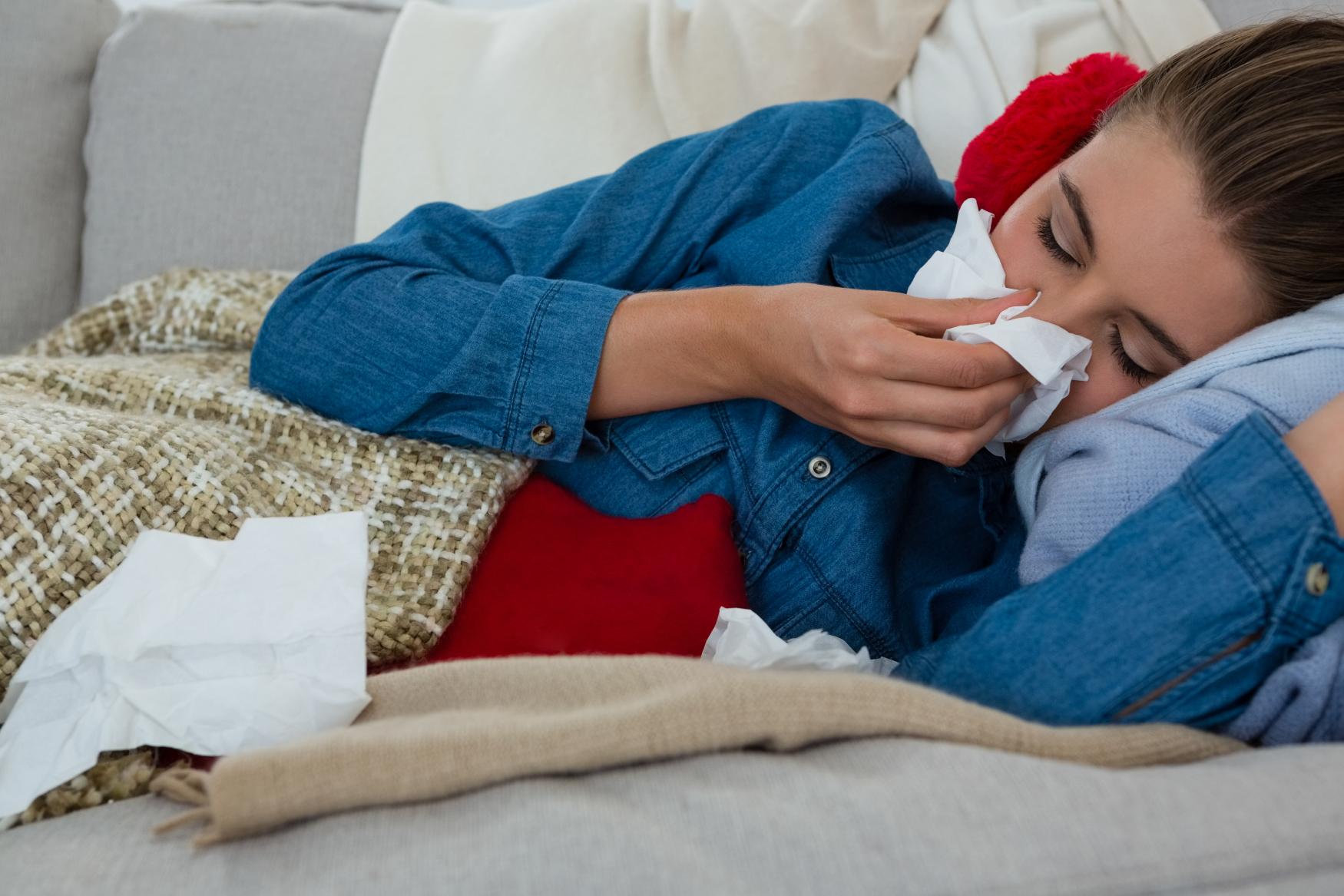 Rýma, nemoc, nachlazení, chřipka